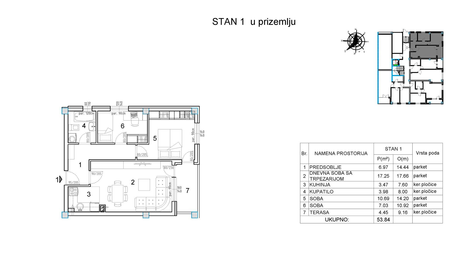 Objekat u Borivoja Stevanovica bb - Stan 1