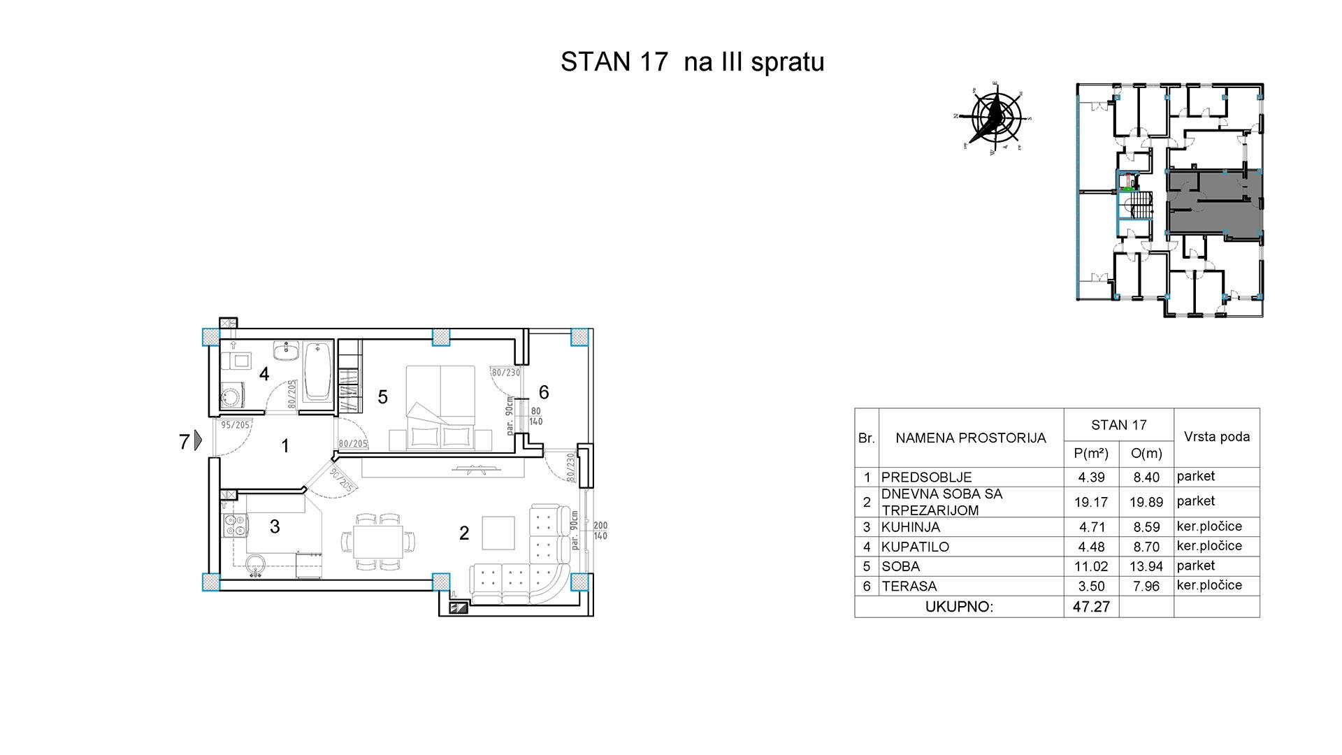 Objekat u Borivoja Stevanovica bb - Stan 17