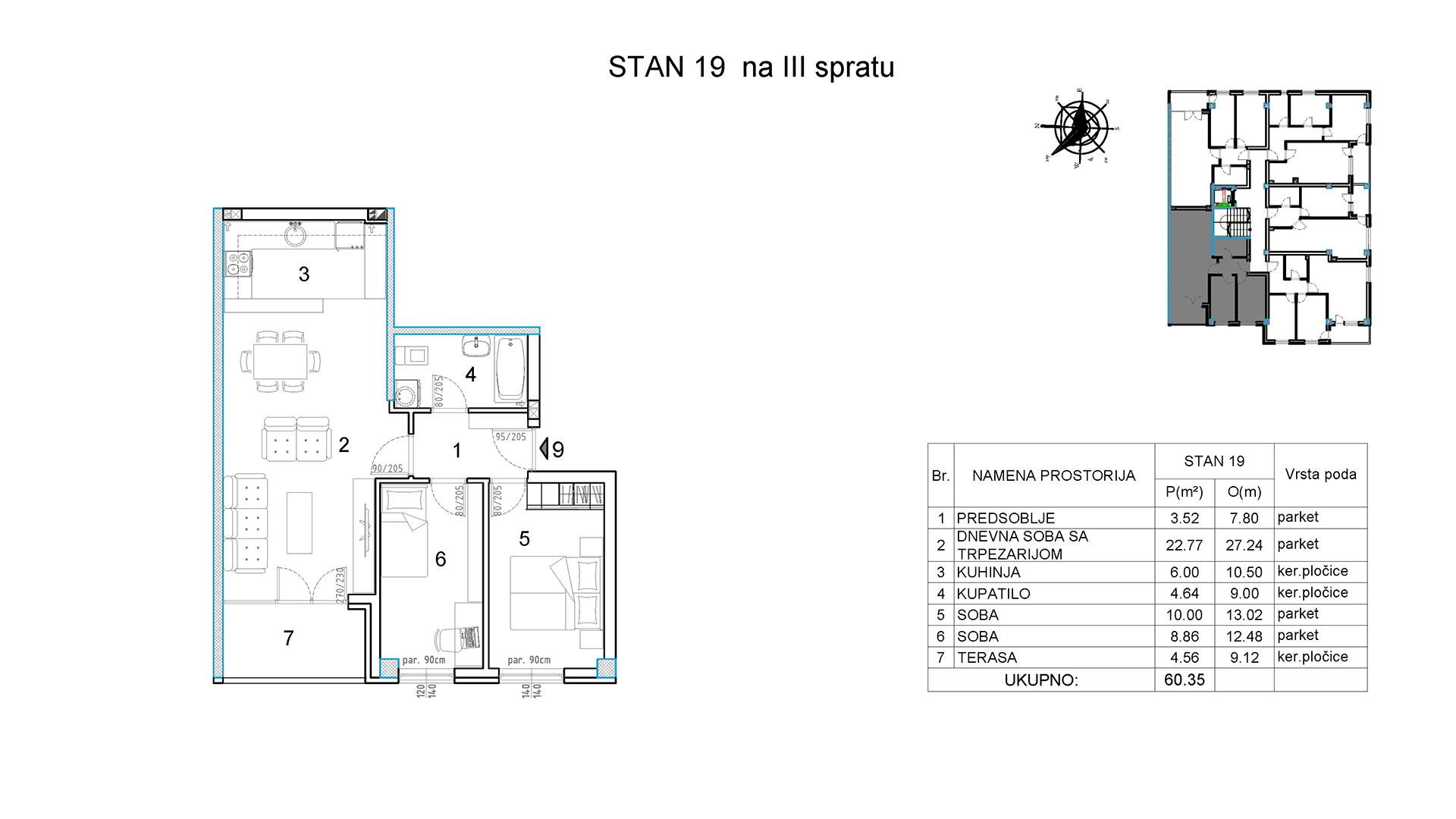 Objekat u Borivoja Stevanovica bb - Stan 19