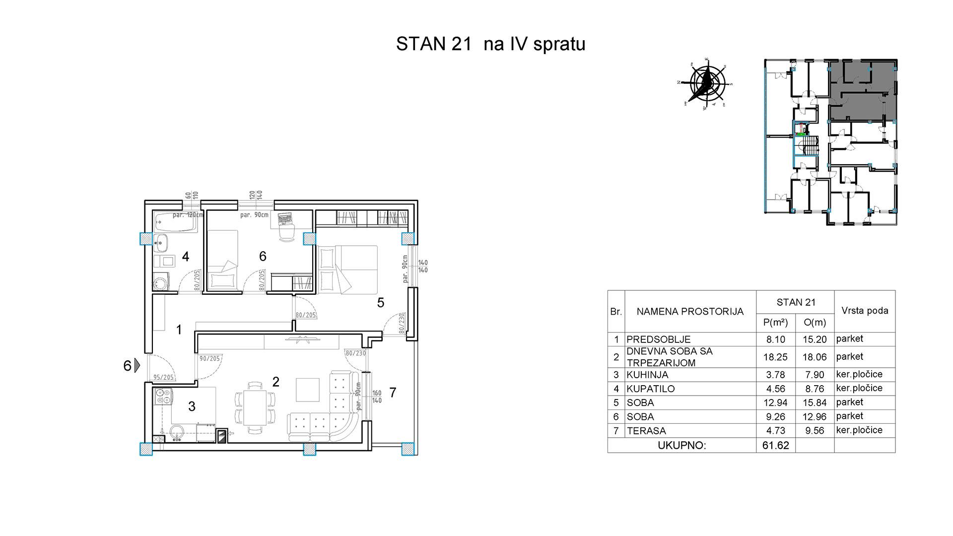 Objekat u Borivoja Stevanovica bb - Stan 21