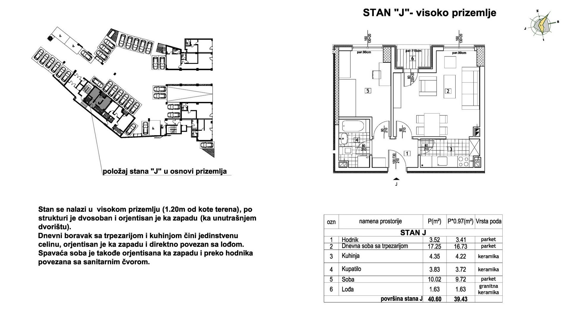 Objekat u Prešernovoj bb - Stan J