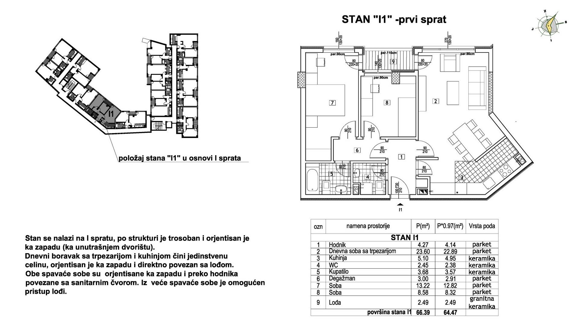 Objekat u Prešernovoj bb - Stan I1