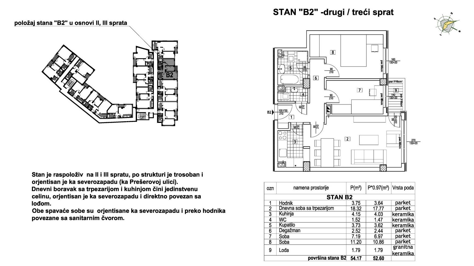 Objekat u Prešernovoj bb - Stan B2