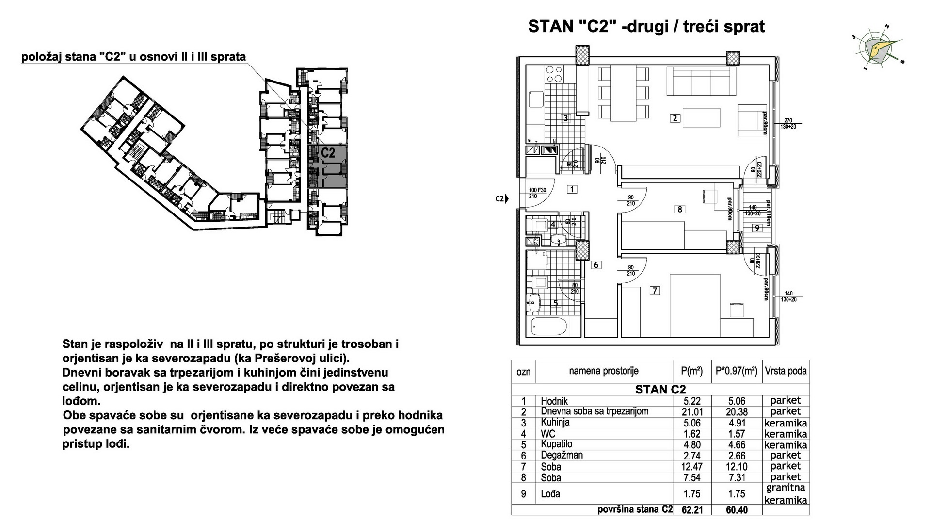 Objekat u Prešernovoj bb - Stan C2