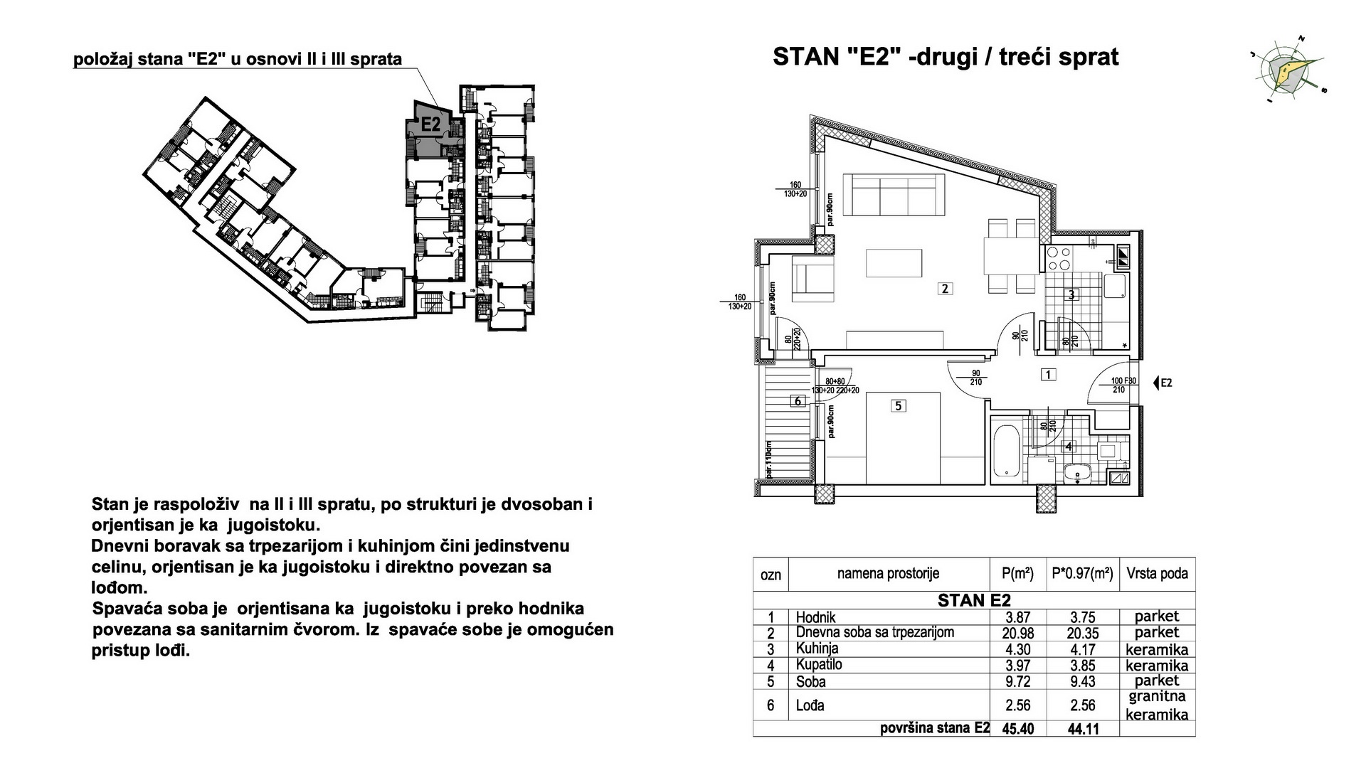 Objekat u Prešernovoj bb - Stan E2