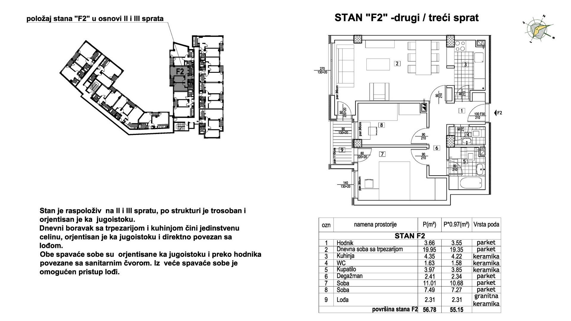Objekat u Prešernovoj bb - Stan F2