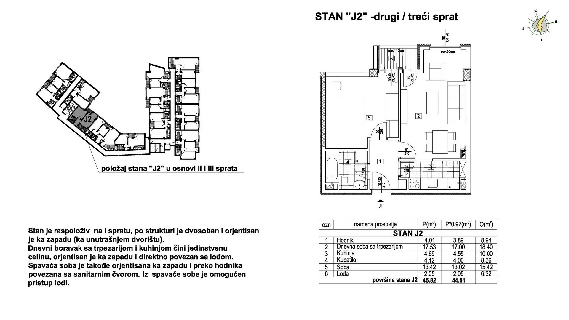 Objekat u Prešernovoj bb - Stan J2