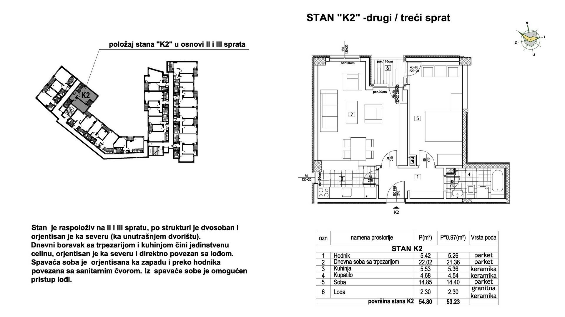 Objekat u Prešernovoj bb - Stan K2