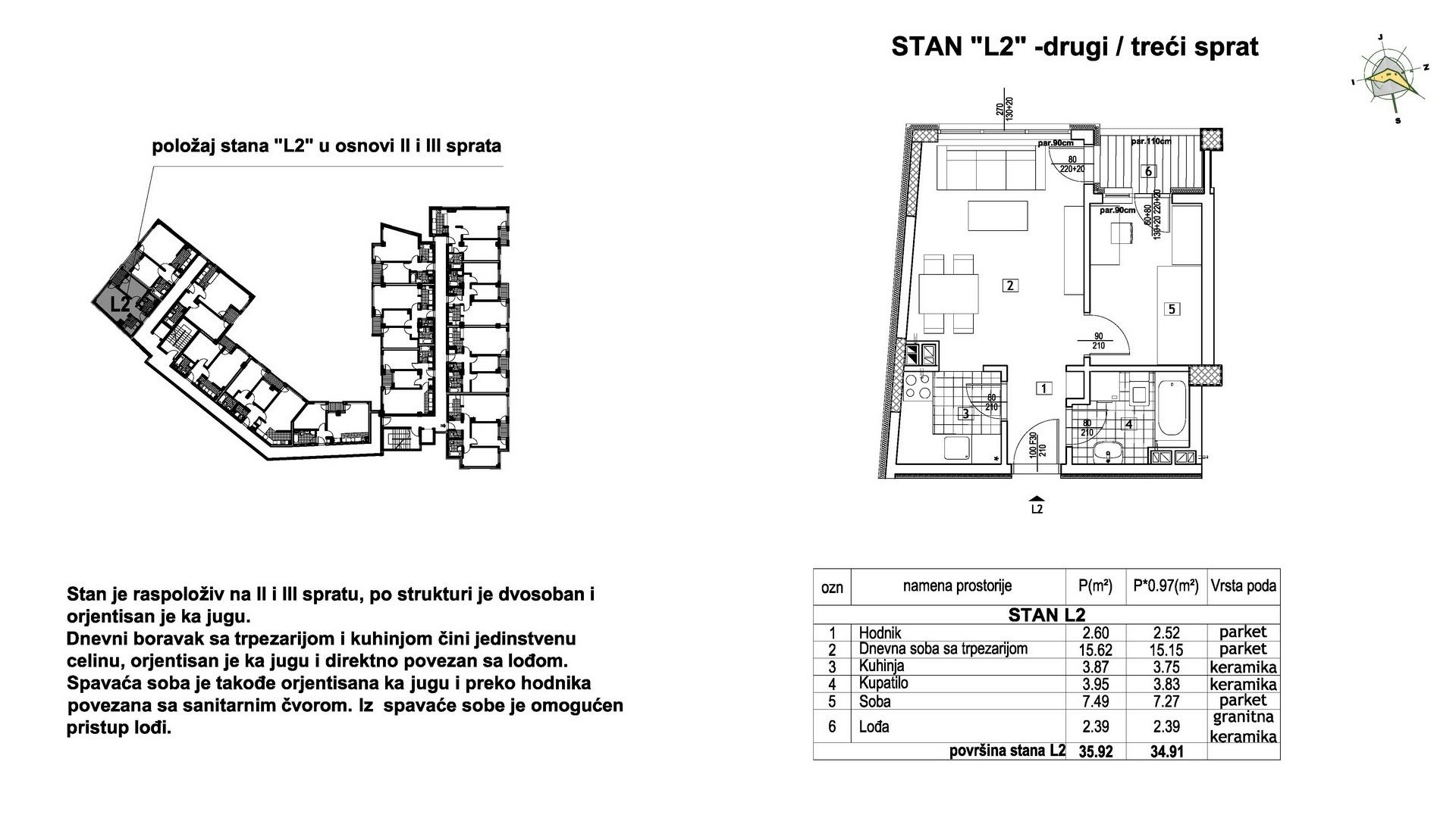 Objekat u Prešernovoj bb - Stan L2