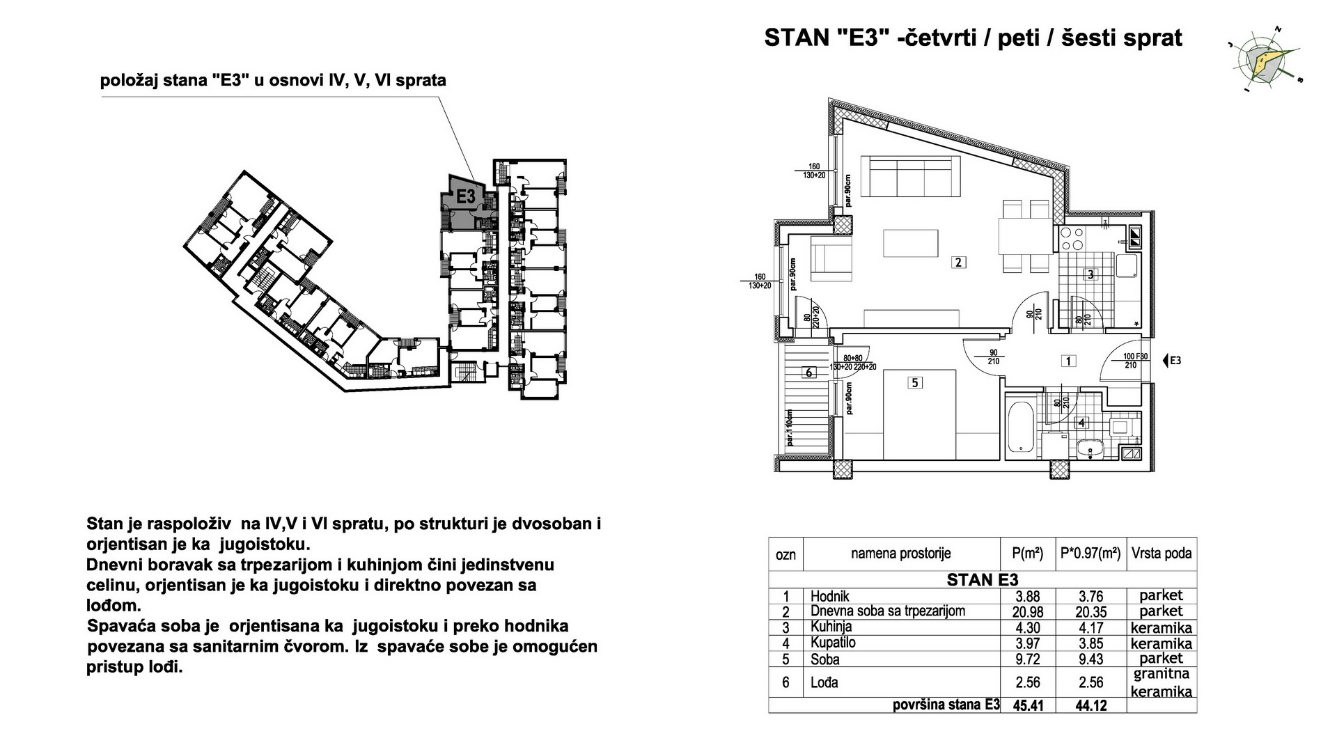 Objekat u Prešernovoj bb - Stan E3