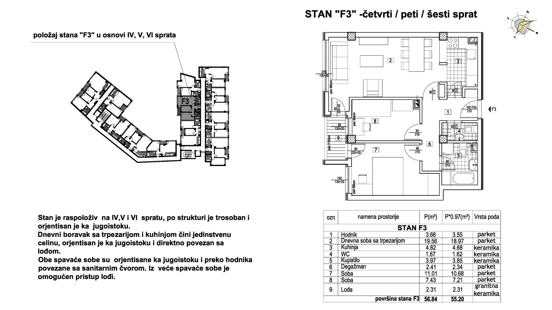 Objekat u Prešernovoj bb - Stan F3