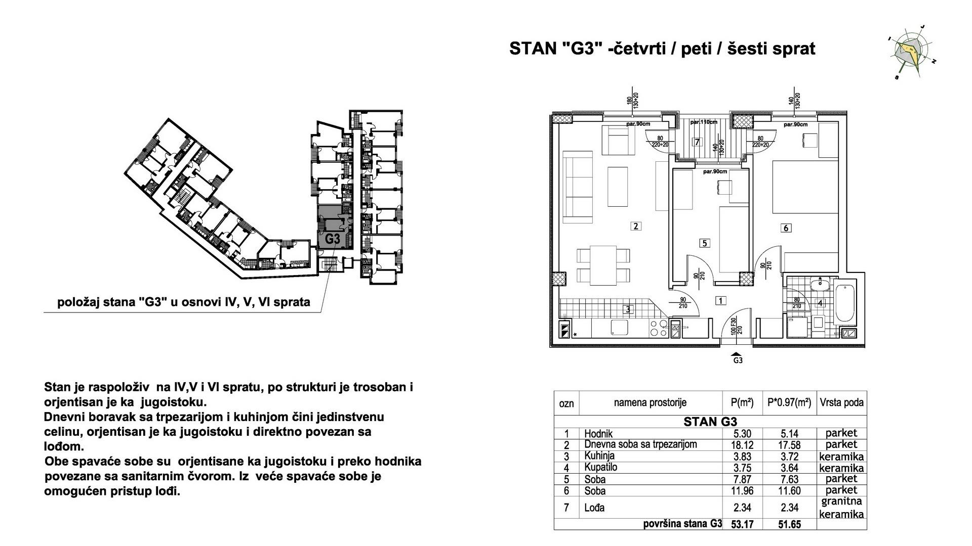 Objekat u Prešernovoj bb - Stan G3