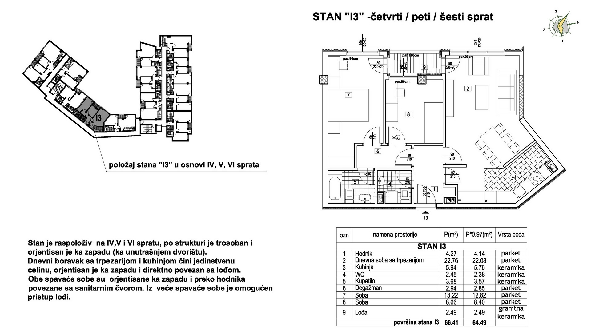 Objekat u Prešernovoj bb - Stan I3