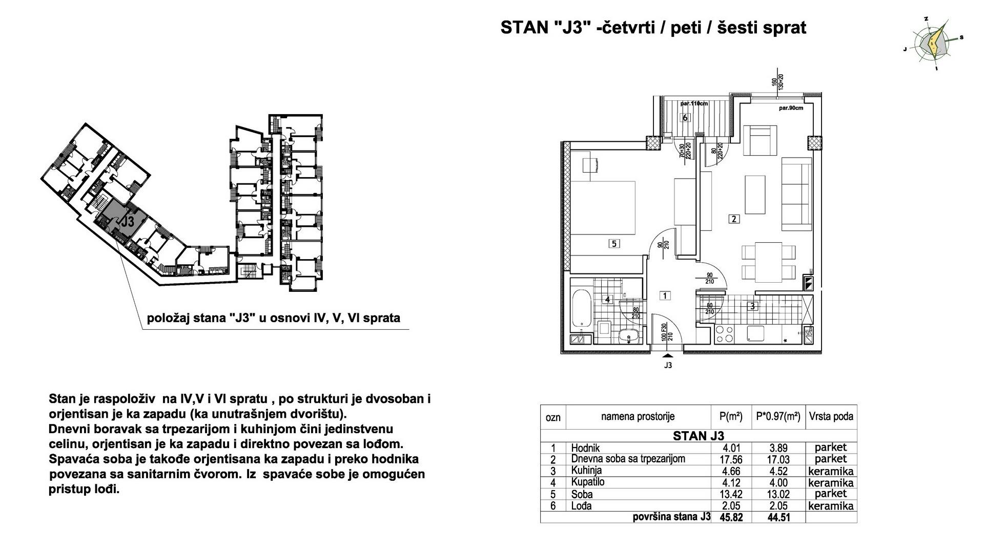 Objekat u Prešernovoj bb - Stan J3