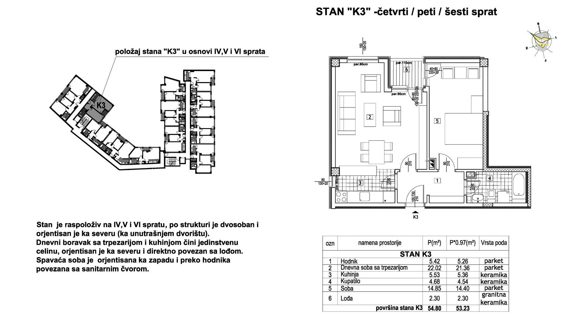 Objekat u Prešernovoj bb - Stan K3