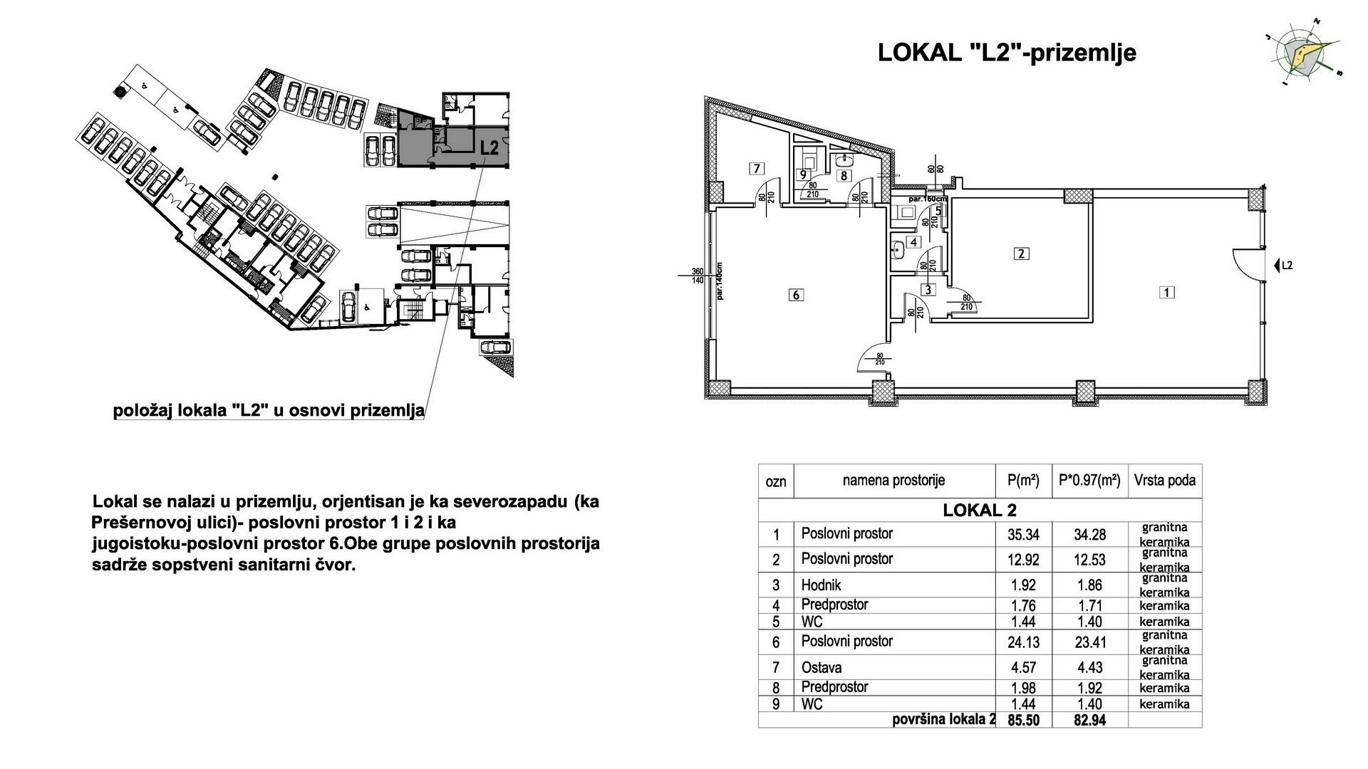 Objekat u Prešernovoj bb - Lokal L2