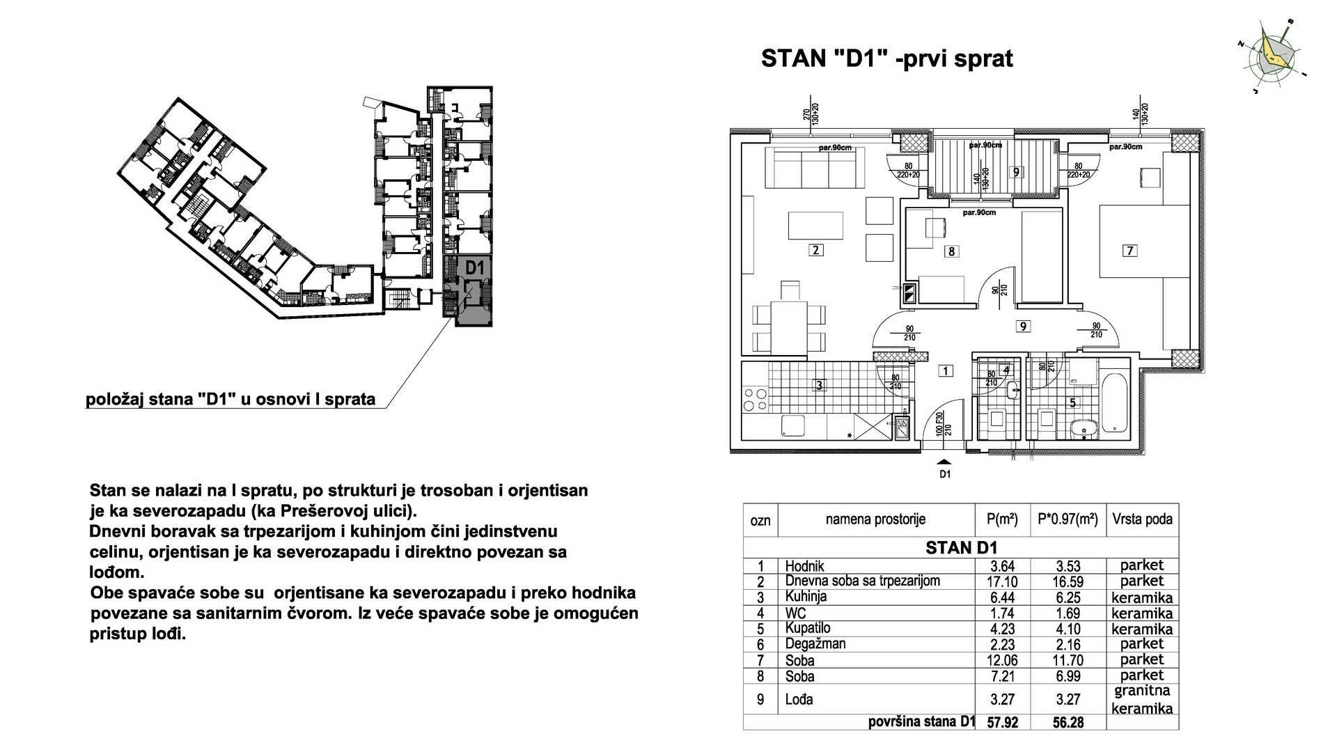 Objekat u Prešernovoj bb - Stan D1