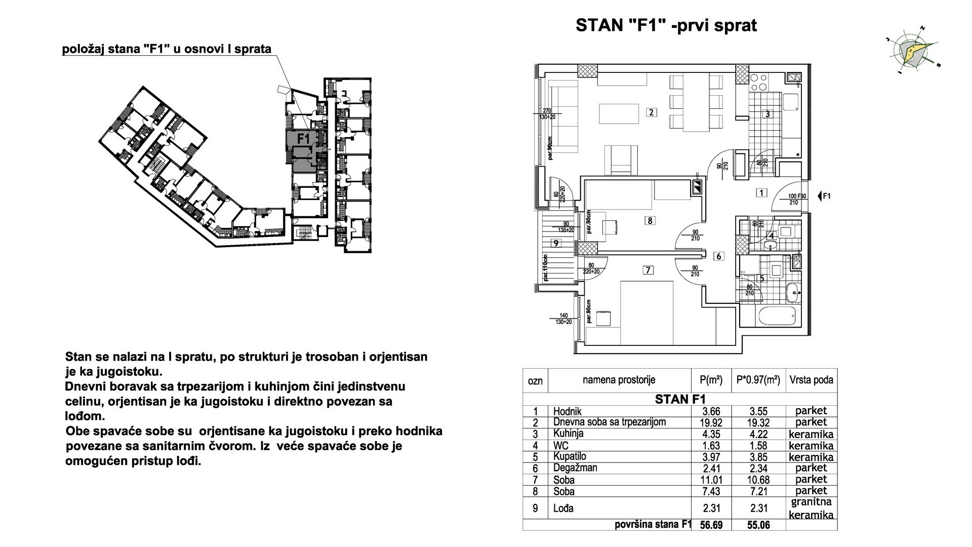 Objekat u Prešernovoj bb - Stan F1