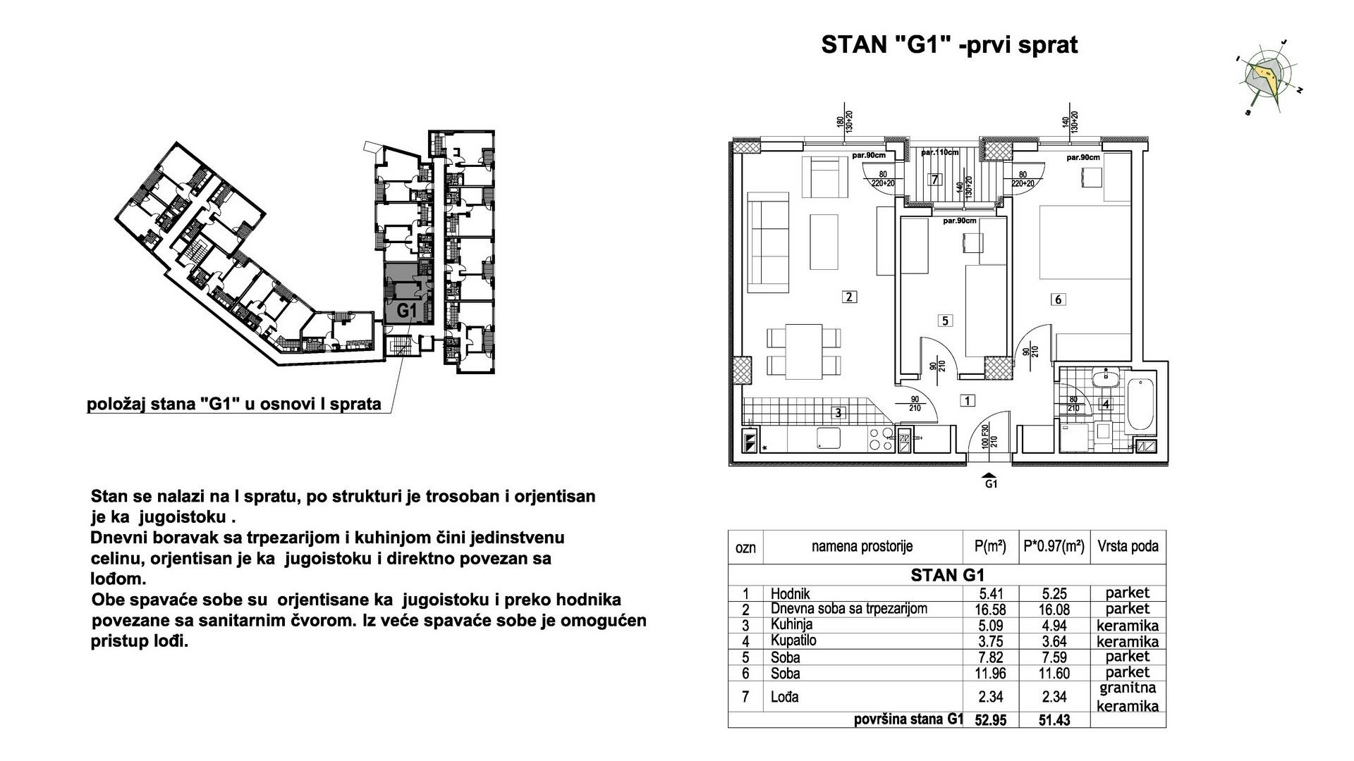 Objekat u Prešernovoj bb - Stan G1