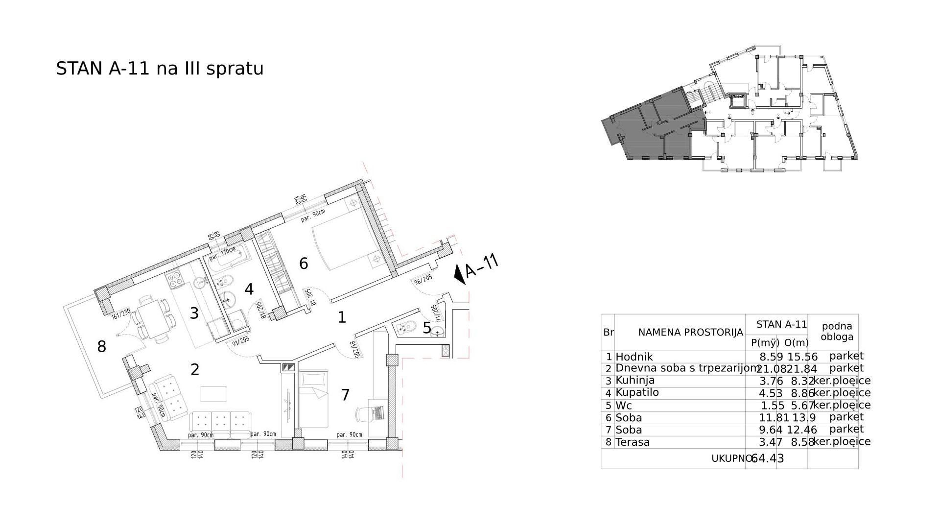 Objekat u Somborskoj 79 - stan A11