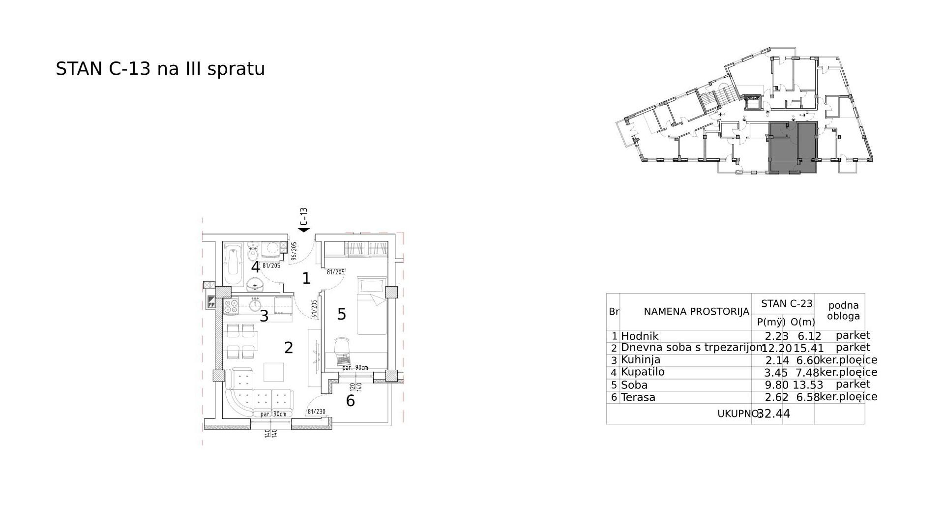 Objekat u Somborskoj 79 - stan C13