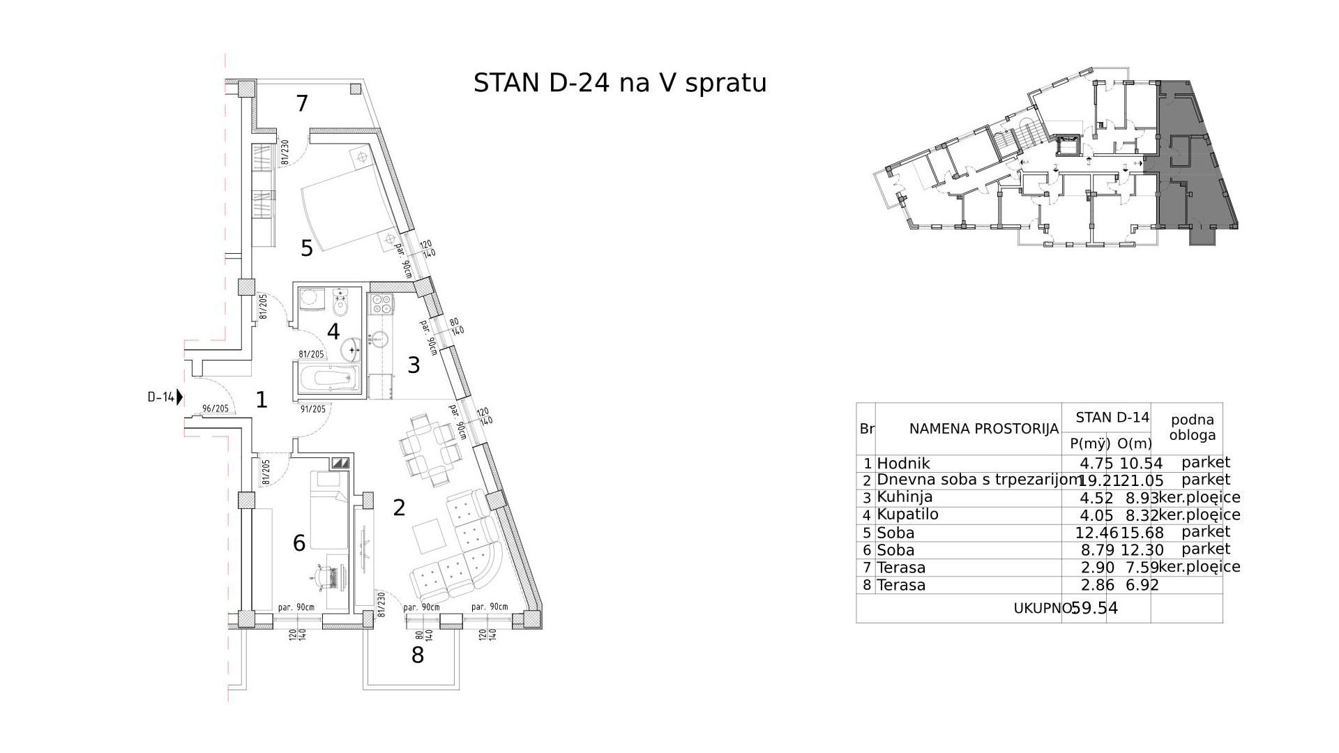 Objekat u Somborskoj 79 - stan D24