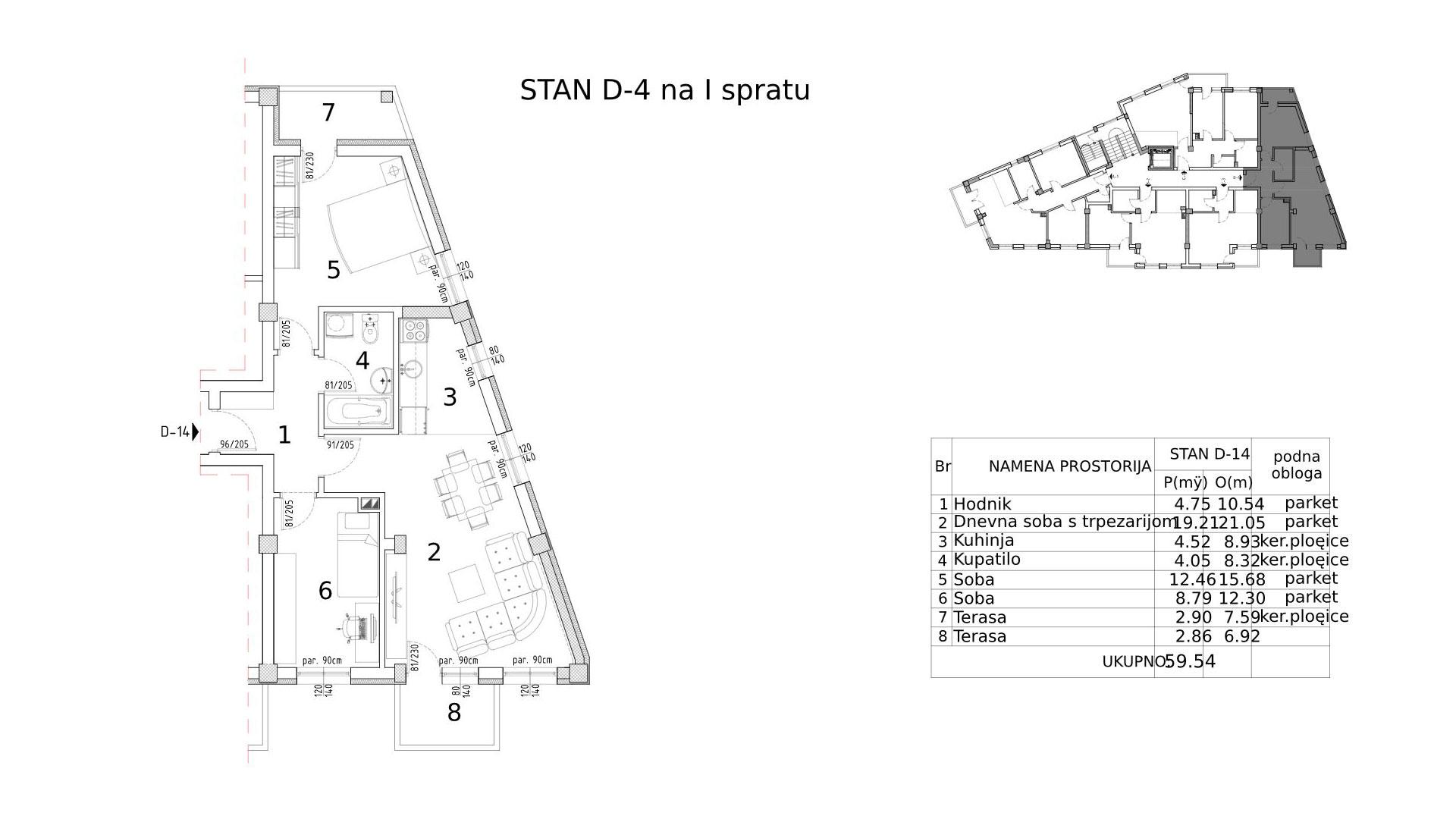 Objekat u Somborskoj 79 - stan D4