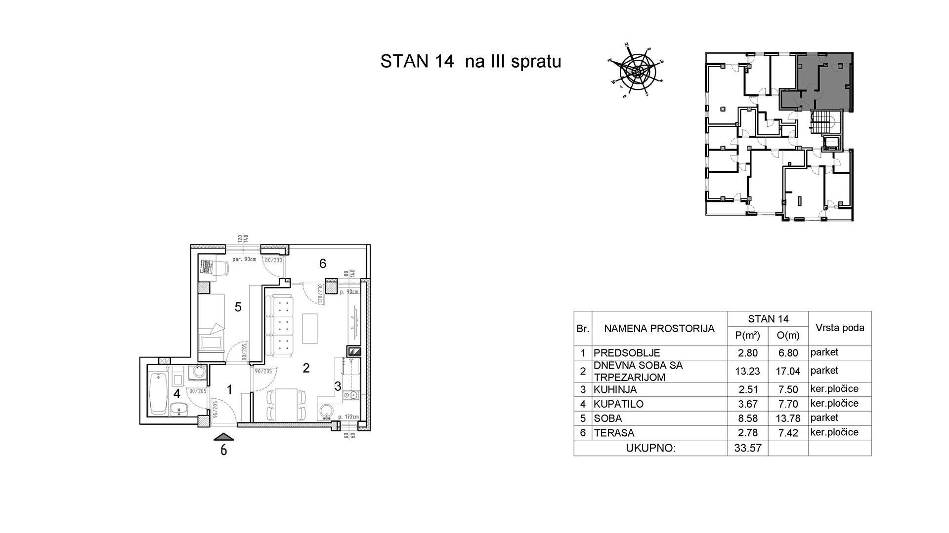 Objekat u Vranjanskoj 2 - stan 14