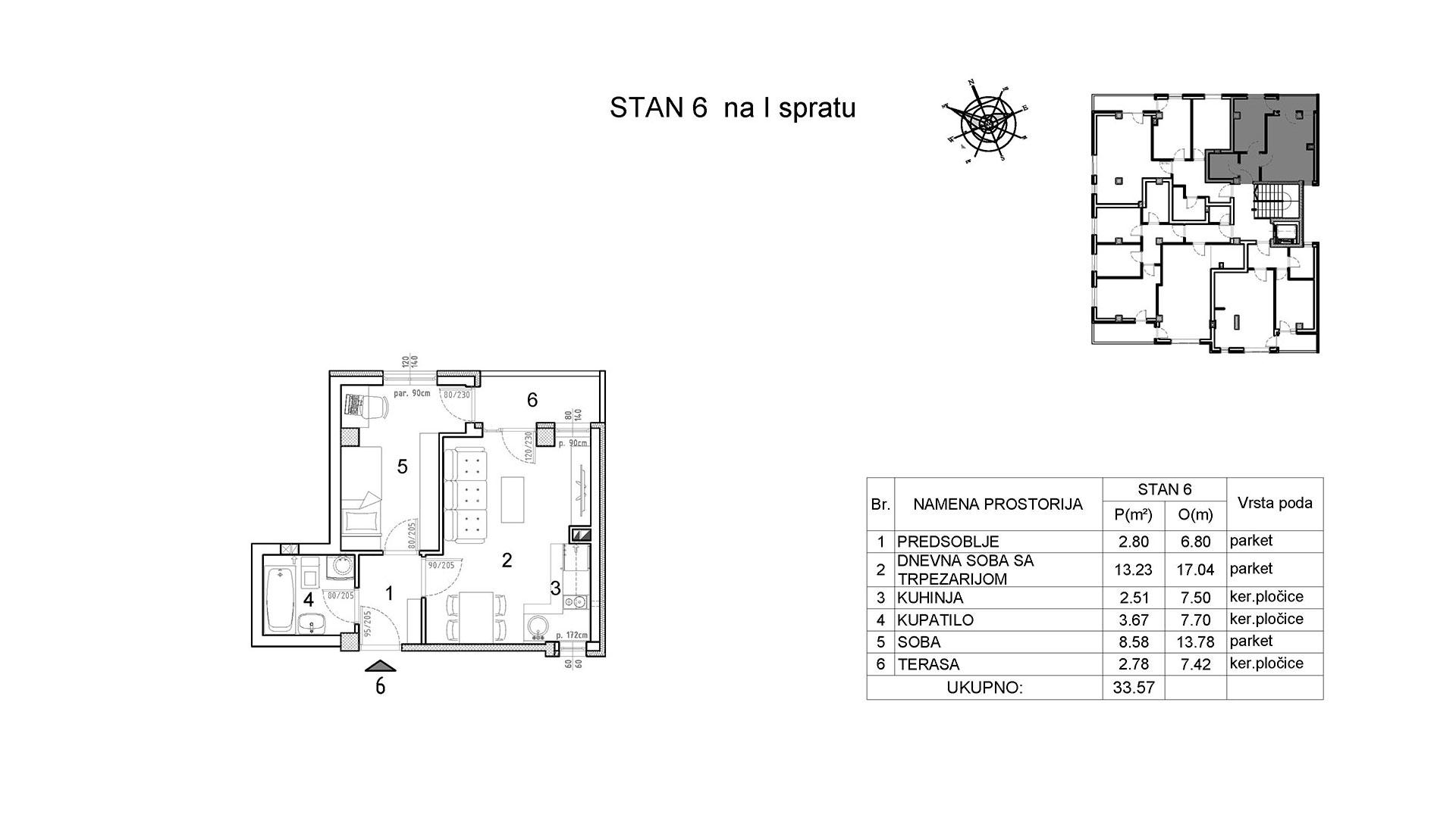 Objekat u Vranjanskoj 2 - stan 6