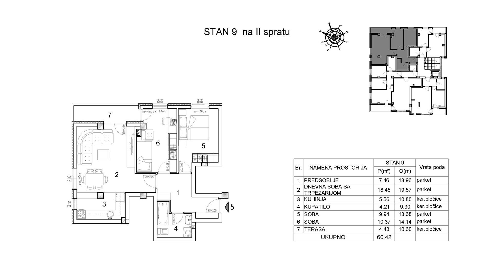 Objekat u Vranjanskoj 2 - stan 9