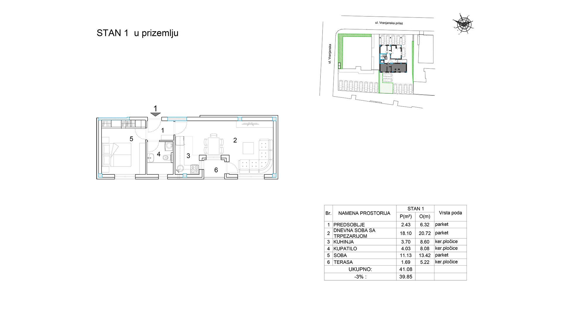 Objekat u Vranjanskoj 2A - stan 1