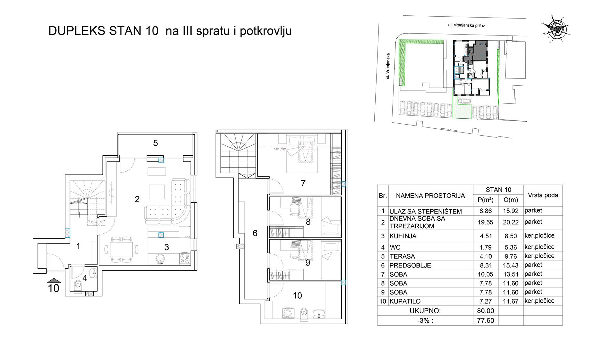 Objekat u Vranjanskoj 2A - stan 10
